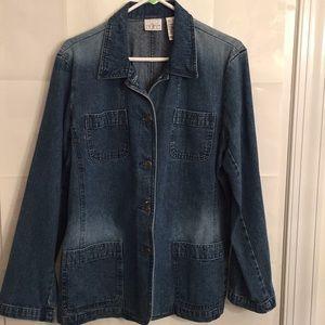 Villager Sport Women's Jean Jacket Size XL